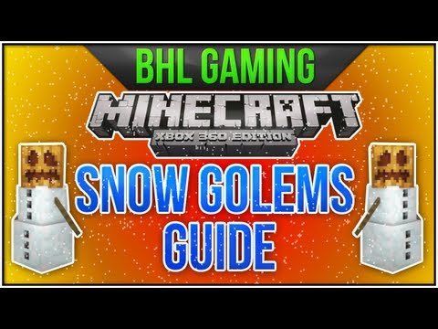 Minecraft Xbox 360: Snow Golem Guide - How to Build Snow Golems! [1.0.1 Update]