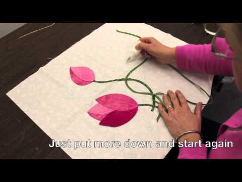 The dresden flower pot: easy applique with charm packs! applique