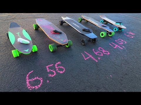 Electric Skateboard SPEED TEST!! ⚡