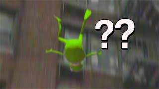 Why did Kermit fall from the roof?