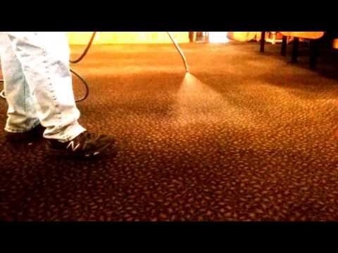 Pre-treating Heavily Soiled Carpet Before Steam Cleaning
