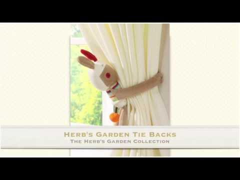Herb's Garden Tie Backs from Lollipop Lane