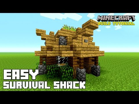 Minecraft: How To Build A Small Survival House Tutorial (Easy survival Shack ) (Medieval) 2016