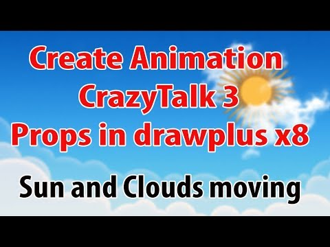 Create Animation CrazyTalk 3 Props in drawplus x8|DrawPlus to CrazyTalk|drawplus x8 animation