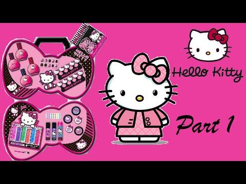 Hello Kitty Kids Beauty Box & Makeup Set Unboxing - Nail Makeup Part 1 !!!
