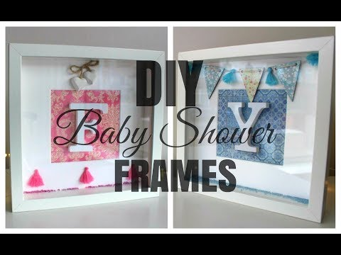 IKEA HACK   DIY Ribba Initial Frame Baby Shower Gift