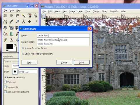 Saving an image as a jpg in GIMP