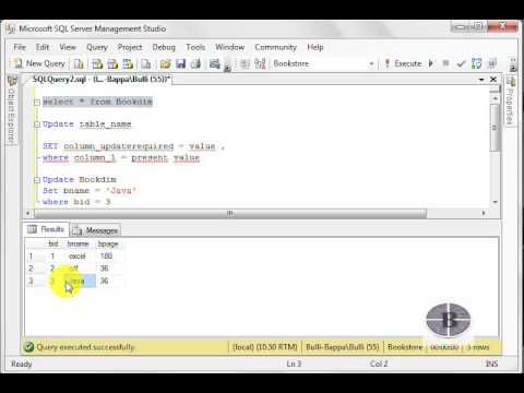 Microsoft SQL Server Tutorial For the beginners - How to Update the data in tables
