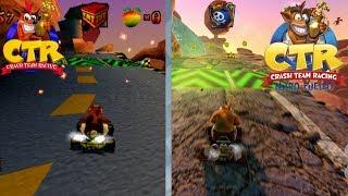 Crash Team Racing Nitro Fueled PS4 vs Ps1 Comparison