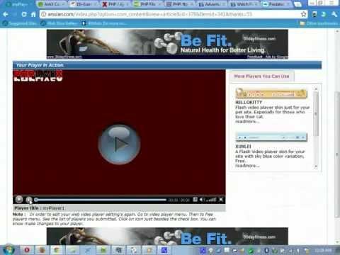 Design Flash Video Player using ArsslanCMS No coding Insert Logo