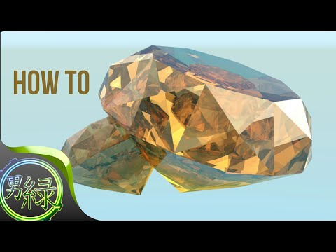How to make a GEM in BLENDER