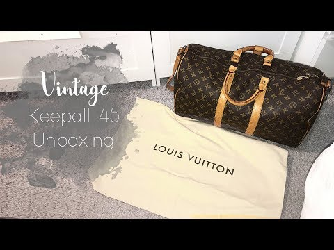 Louis Vuitton // 28 Year Old Keepall 45 Unboxing