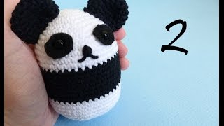 PATTERN crochet PANDA pdf tutorial how crochet panda bear pattern ... | 180x320
