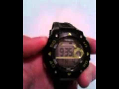 How to change the time on a digital Armitron watch