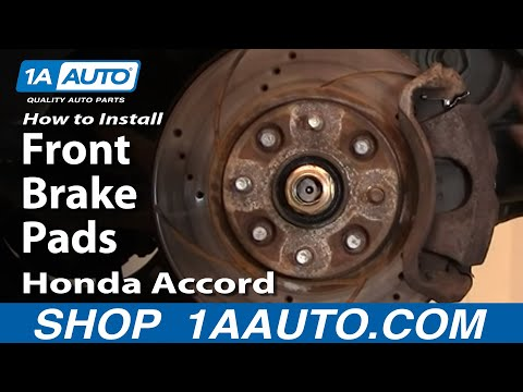 How To Install Replace Front Brake Pads Honda Accord 90-97 Acura CL 97 1AAuto.com