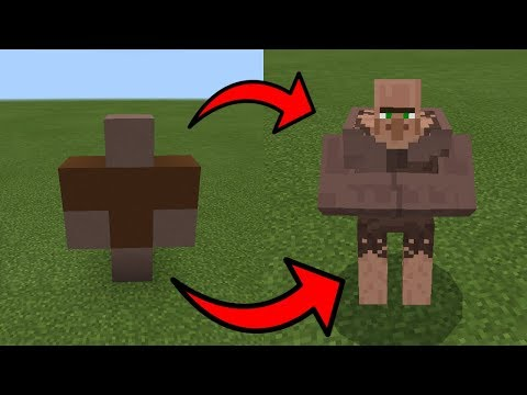 How To Spawn a MUTANT VILLAGER in Minecraft PE