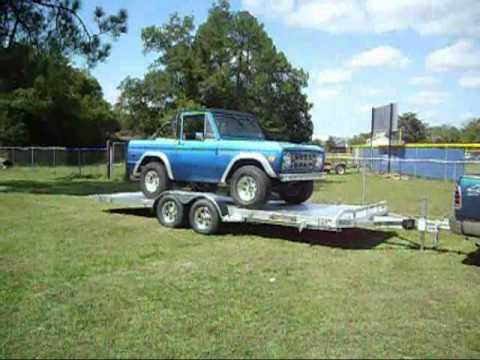 8218T aluma tilt car hauler trailer aluminum loading ford bronco 8220T carhauler