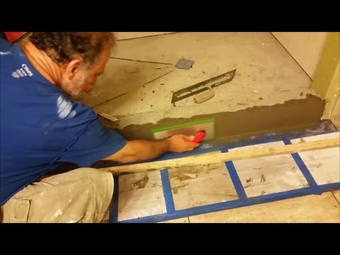 How To Build and Float A Shower Curb  - Part 2 - Step by Step