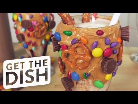 Salted Caramel Pretzel Milkshake Recipe   Get the Dish