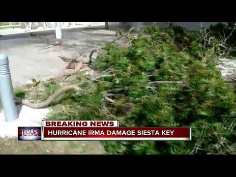 Hurricane Irma damage in Siesta Key