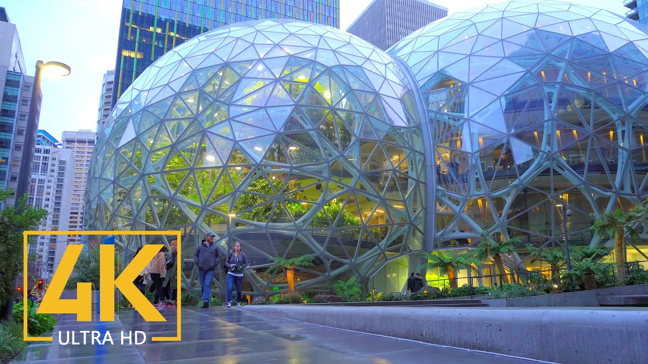 Seattle Streets Walking Tour 4K Video - Seattle's Downtown and Top Attractions of Seattle
