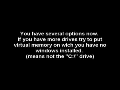How to: Windows xp Performance - #1 virtual memory