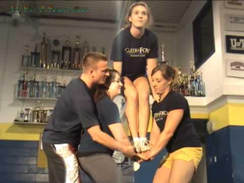 Cheerleading Basket Toss Video - How to do the Basket Toss