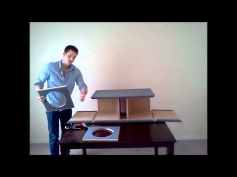 Flat Pack Subwoofer Box Assembly Build it yourself subwoofer box