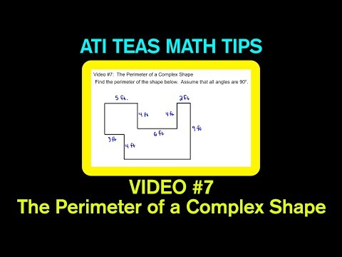 TEAS Math Tips - Video #7: The Perimeter of a Complex Shape