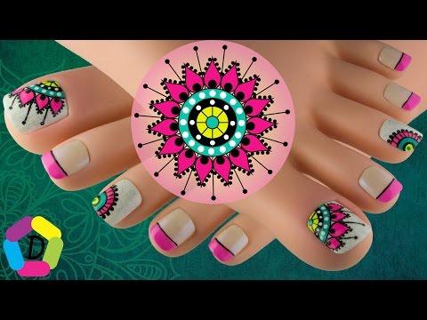 Mandala Decoración De Uñas Para Pies Fácil3egwe Videostube