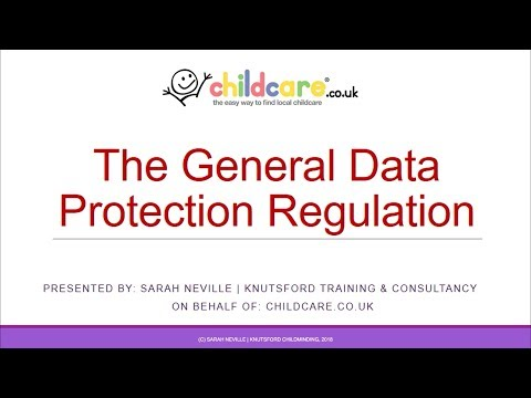 GDPR for Childminders and Early Years Providers