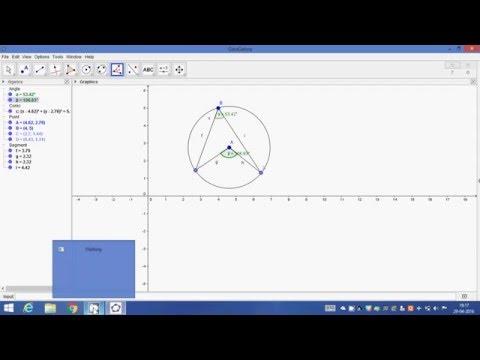 Geogebra practical No. 10