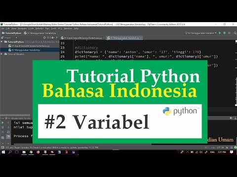 02 Tutorial Python Bahasa Indonesia - Variabel-variabel dalam Python