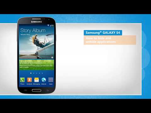Hide and Unhide Applications on Samsung® GALAXY S4