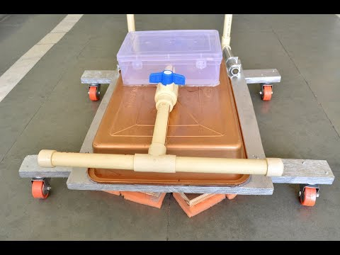How to Make a Floor Cleaning Machine - Nice Project