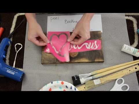 How to Paint a Wood Sign with a Stencil