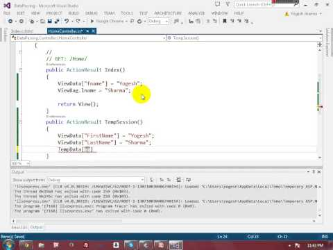 View Data , View Bag, TempData, Session in MVC 5