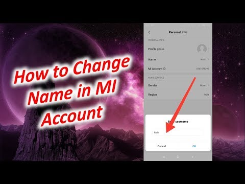 How to Change Name in MI Account
