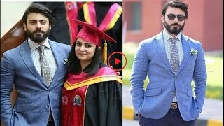 Fawad Khan with Sister at her Convocation.