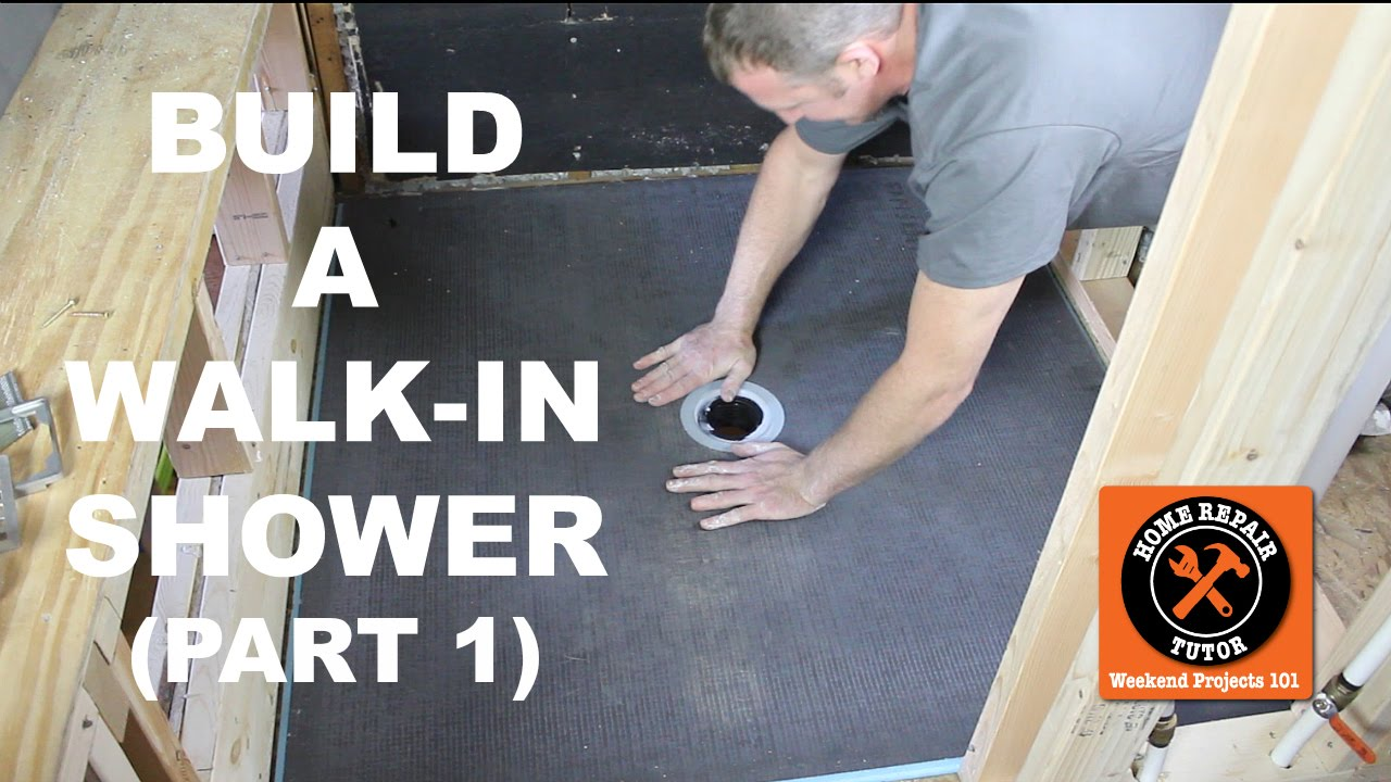 How to Build a Walk-In Shower (Part 1: Wedi Shower Pan Install)
