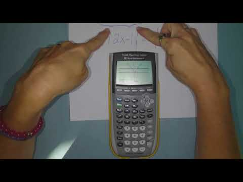 Solving Absolute Value Equations on TI 84