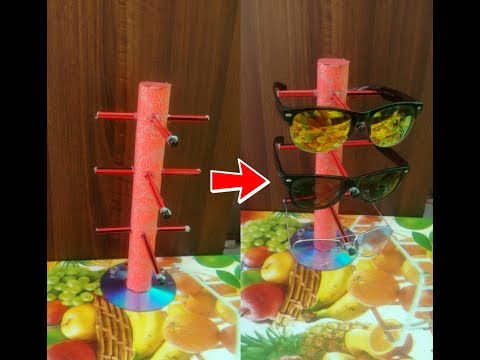 how to make sunglasses holder at home