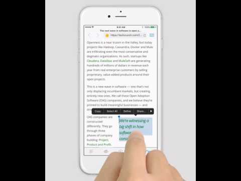 PDF Markup iPhone Tutorial - Highlight web pages via built-in browser