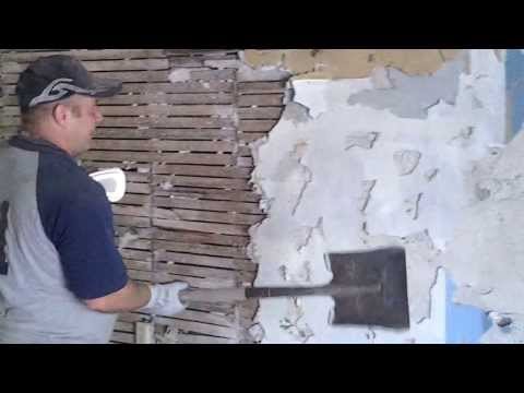 DIY how to remove lath and plaster part 1 Plaster