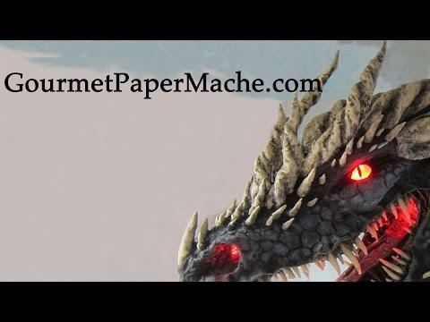Dark Paper Mache Dragon