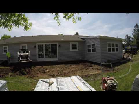 Gettysburg Adams County patio excavation timelapse - Ryan's Landscaping 717-632-4074