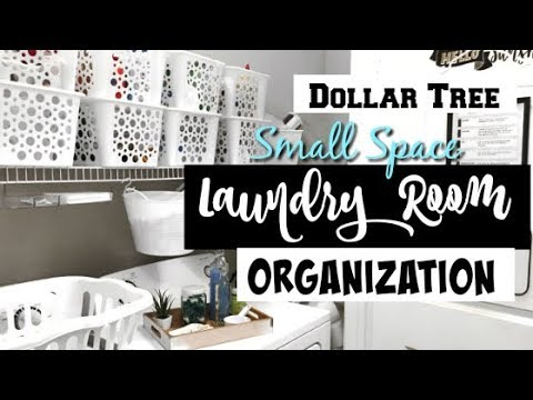 DOLLAR TREE | SMALL LAUNDRY ROOM ORGANIZATION!