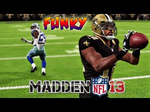 Madden 13 - Marques Colston Is A Handful Lets Get Funky Crazy! Madden - Online Ranked Match - SAINTS