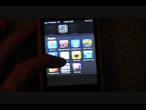 How to Put Moving Backgrounds on Iphone or Ipod Touch