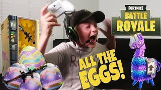 KID FINDS ALL THE EGGS FORTNITE STYLE